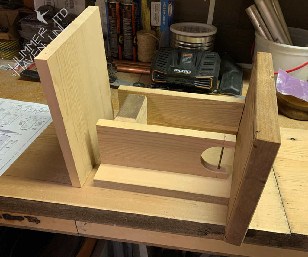3-15-20 Eastern Bluebird nest box, built by Dan.